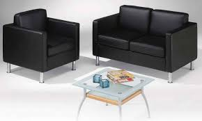 Furniture Grey Modern Leather fice Chairs With Gold Arms And