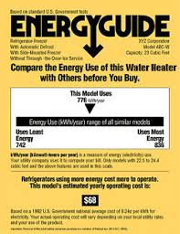 A Water Heaters Efficiency Is Measured By Its Energy Factor This Number Shown On The EnergyGuide Label Shows Units Overall Operating Costs