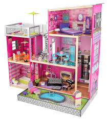Barbie Living Room Set India by Kidkraft Uptown Wooden Dollhouse With 35 Pieces Of Furniture