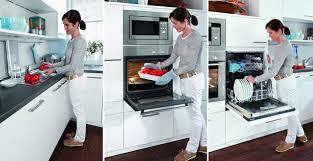 küchenzeile mikrowelle backofen und spülmaschine hoch