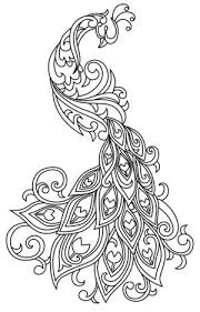Rich Line Work Soft Swirls Bring This Exquisite Peacock To Life Downloads As A PDF