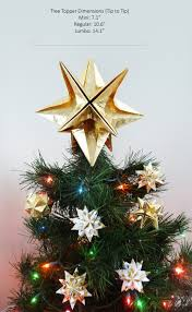 Christmas Tree Toppers Etsy by Papyrus Origami Christmas Tree Topper Gold Star Classic