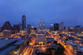 100 Austin City View Aerial View Of Cityscape Illuminated At Dusk Texas United