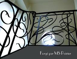 l nouveau dans le fer forgé création de res d escalier de