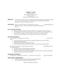 Sample General Resume Objective Objectives Free