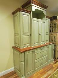 Dazzling Vintage Kitchen Furniture Ideas With Wooden Green Cabinets For Appliance Storage Designs