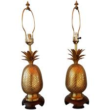 Brass Candlestick Buffet Lamps by Frederick Cooper Brass Pineapple Lamps At 1stdibs