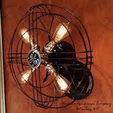 steunk 1940 s general electric wall fan l wall sconce light