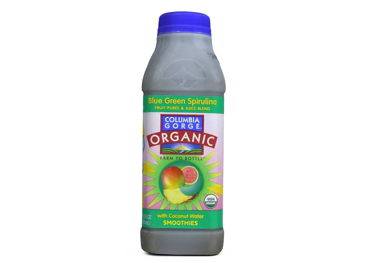 Columbia Gorge Organic 100% Organic Fruit Smoothie, Blue Green Spirulina