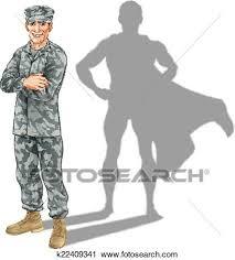 Clipart Of Hero Soldier Concept K22409341