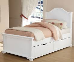 8010 and 8560 Twin Morgan Panel Trundle Bed White