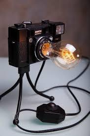 fotokamera le retro licht nachtlicht le tisch