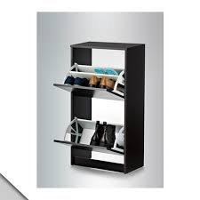 amazon com ikea bissa shoe cabinet with 2 compartments black