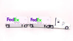 Trucks N Stuff HO Fedex Ground Kenworth Tractor 28' Doubles Trailer ...