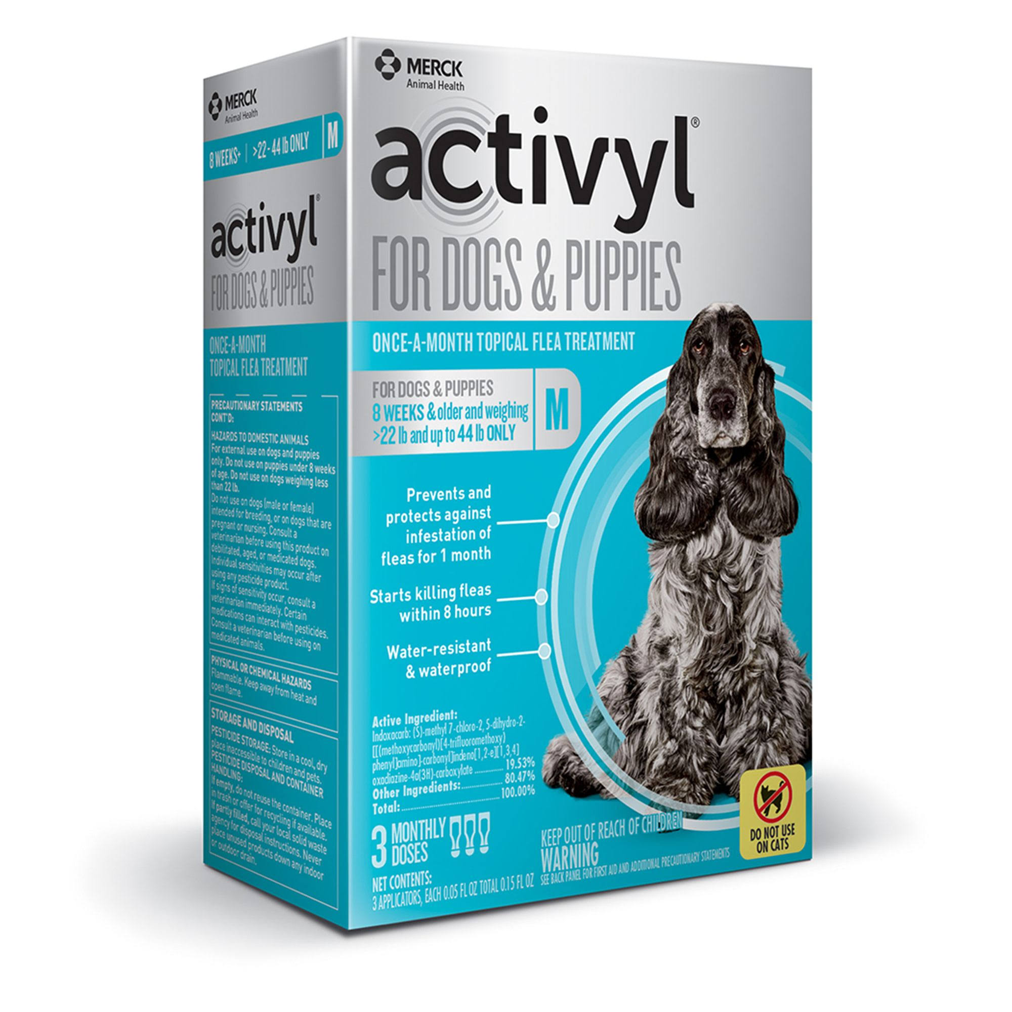 Activyl for Dogs and Puppies Once-A-Month Flea Treatment - 3 Doses