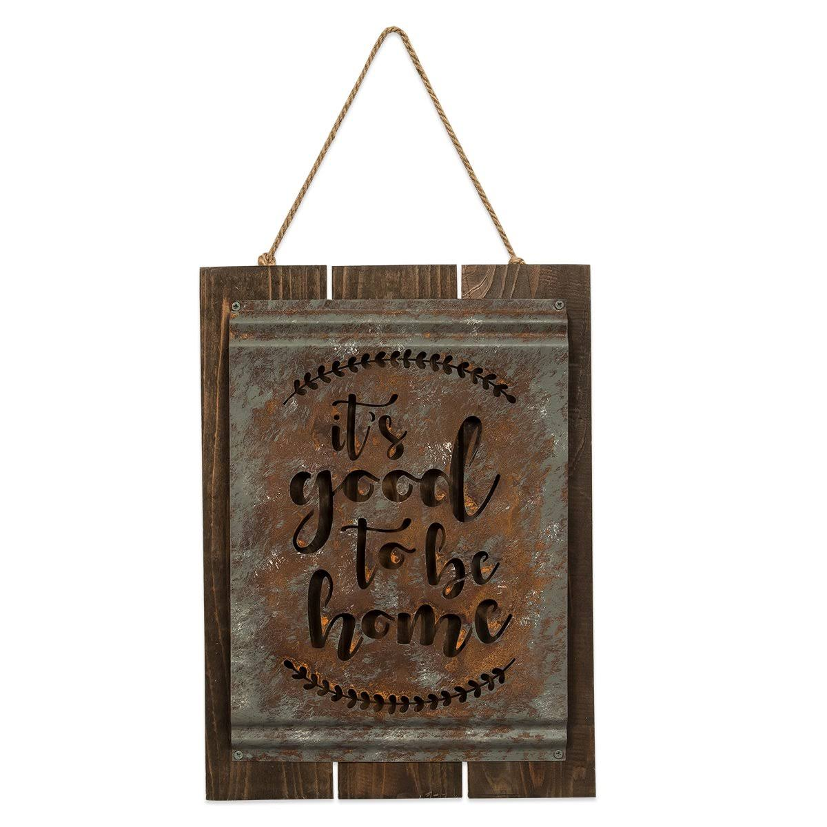 "Brownlow Gifts Good To Be Home Acid Wash Sign - 10"" x 13"""