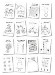Kids Wedding Coloring Book Favor Activities Rustic Activity