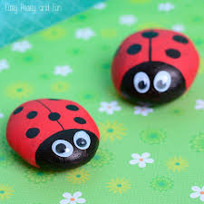 Cute Painted Ladybug Rocks Rock Crafts For Kids