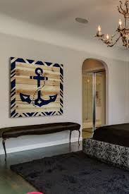 Pottery Barn Wall Decor by Impressive Pottery Barn Wooden Anchor Wall Art Nautical Wall Decor