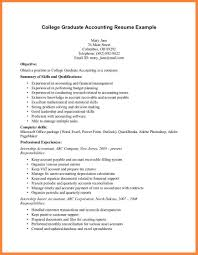 Curriculum Vitae Sample For Fresh Accounting Graduate 13 Resume Of 4 Students