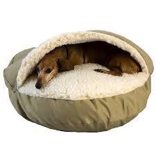 amazon com snoozer cozy cave khaki small pet beds pet supplies
