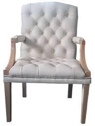 casa padrino echtleder esszimmerstuhl mit armlehnen in weiß hellbraun 60 x 60 x h 100 cm chesterfield möbel