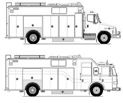 Two Fire Truck Coloring Pages