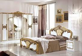 eftelya schlafzimmerset 4 tlg bett 160cm kleiderschrank 6 trg barock weiß gold
