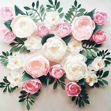 Paper Flower Wall Display Girl Nursery Decor Garden Party Photo Booth Crepe