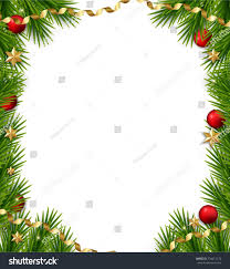 Christmas Tree Frame Vector Template Stock Royalty With Branch 13233