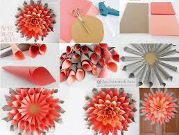 2 Paper Dahlia Wreath