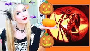 Jack And Sally Pumpkin Stencil Free by Disney Pumpkins Halloween Disney Pumpkin Carving Youtube