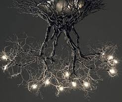 Tubular Light Bulb For Ceramic Christmas Tree by Tree Roots Chandelier
