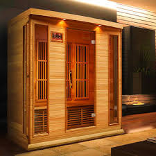 dynamic saunas monet 4 person canadian red cedar far infrared sauna