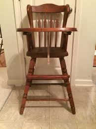 Baby Cache Heritage Dresser Changer Combo Chestnut by Vintage Wooden High Chair Jenny Lind Antique High Chair Vintage