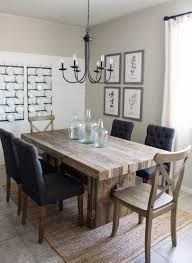 Modern Farmhouse Dining Room DIY Shiplap Table Rustic Kitchen Decor