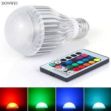 aliexpress buy donwei rgb e27 9w led bulb indoor dimmable