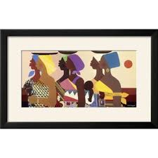 African Women Framed Graphic Art Print