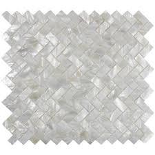 white herringbone pearl shell tile sle swatch