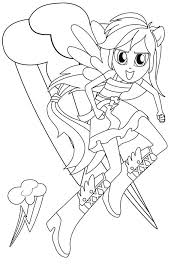 Coloring Pics Detail Name Equestria Girls Rainbow Dash Pages My Little Pony