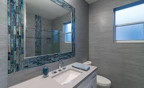 for a residential remodel a neutral palette of porcelain tile