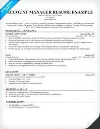 Account Manager Resume Sample Relationship Banking