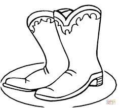Cowboy Boots Coloring Page Free Printable Pages Intended For The Awesome Boot