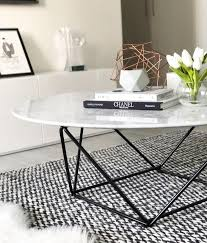 robin marble coffee table with black base couchtisch