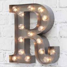 Carnival Letter Lights A To Z Industrial Silver By Rocket Rye