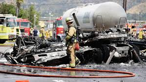 100 Milk Truck Accident 1 Dead 10 Injured After Fiery Crash On 5 Freeway Near Griffith Park