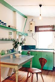 We Love The Jade Green Cabinets In This Quirky Kitchen