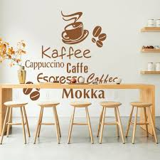 Art New Design Home Decoration PVC Coffee Wall Sticker Creative Words Vinyl Kitchen Decor Removable Decals For Bar Or Shop In Stickers From