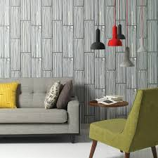 Living Room Wall Decoration Ideas Wallpaper Pattern Wood Finish