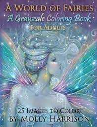 Coloring Book Adults A World Of Fairies Fantasy Grayscale Flower Art Gift Kid